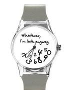 nowy zegarek silikonowy whatever i m late anyway