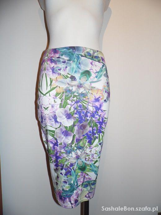 Spódnice evita spódnica ołówkowa w kwiaty 36 38 40 42