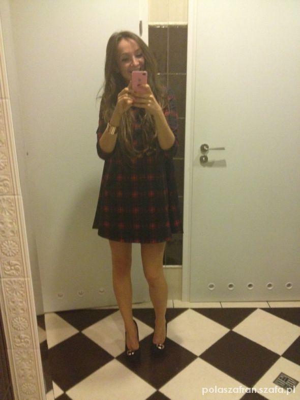 Mój styl Sukienka MOHITO krata w kratkę