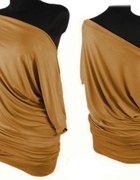 Cyamonowa tunika bluzka oversize