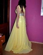 Przepiękna Kanarkowa Maxi sukienka