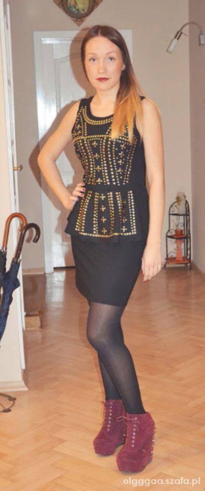 Wieczorowe Sukienka z baskinką