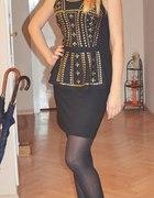 Sukienka z baskinką...