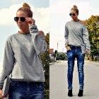 jeansy z luźnym krokiem