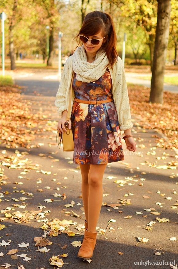 Blogerek jesienna sukienka