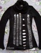 Punk Rave ragged style black sweater...