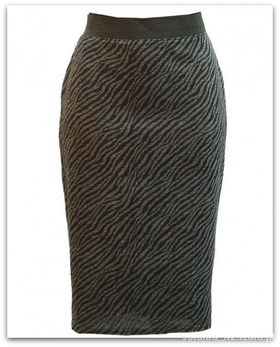 Spódnice 40 42 Wallis ołówkowa spódnica guma cętki