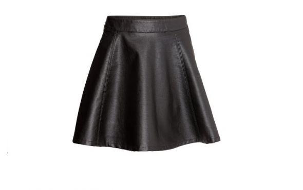 Spódnice Spódnica nowa czarna skórzana H&M