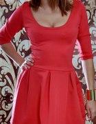 Nowość elegancka gładka sukienka z rękawkami