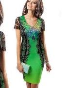 sukienka z pawiem...