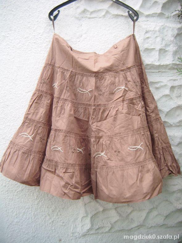 Spódnice Karmelowa brązowa spódnica