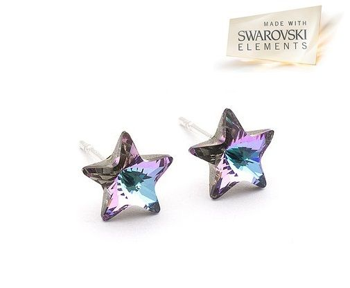 swarovski star vitrail light earrings