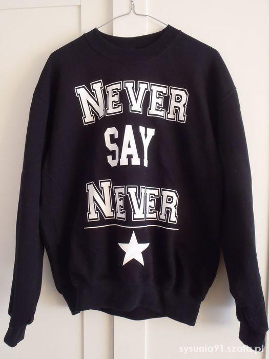Nowa czarna bluza magicbox never say never M