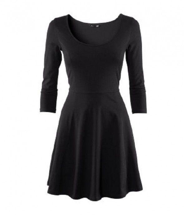 rozkloszowana sukienka z długim rękawem 34