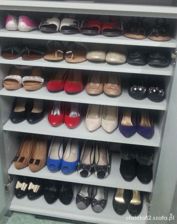 Moja półka na buty w pracy