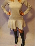 dresowa sukienka bardzo gruba kolory