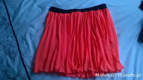 Spódnice neonowe plisy