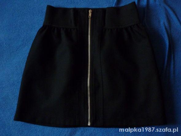 Spódnice Czarna spódniczka zip M