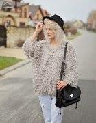 Sweterek Kudłaty Jesień Zima