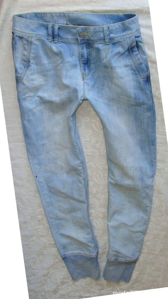 Sponie jeans alladynki 42 44 ściągacz na dole