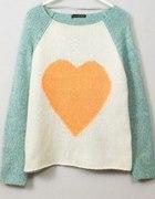 ATMOSPHERE ciepły sweter miętowy z sercem 12 40