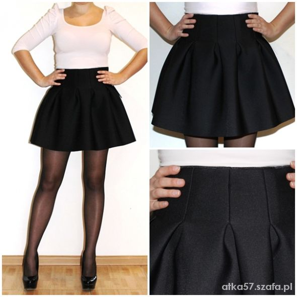 Spódnice Spódnica czarna rozkloszowana Spódnica