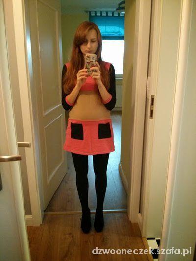 Codzienne Trapezowa sukienka