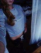bluza krótka swag siwa dres M L 38 40