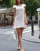 rozkloszowana sukienka oversize