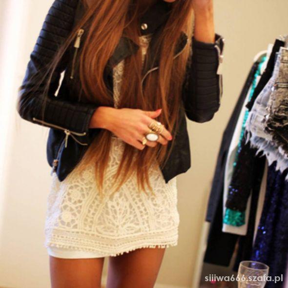 Mój styl sukienka & czarna skóra