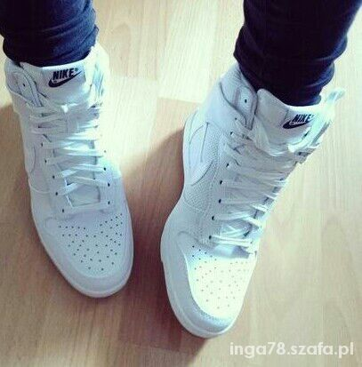 sports shoes 3ebf7 a54fb Koturny nike koturny biale
