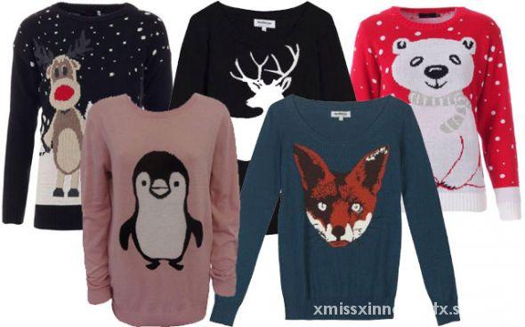Świąteczne zimowe swetrzyska