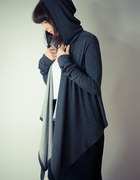 Grey Hoodie Blouse