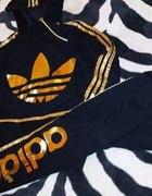 ADIDAS nowy dres czarny ZIP S M L