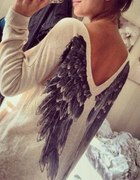 Sweter ze skrzydłami Kappahl...