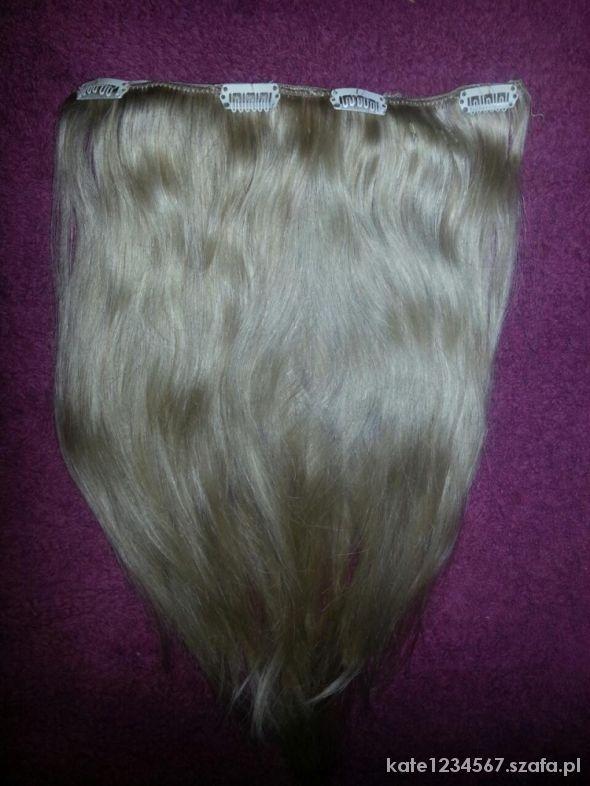 Pozostałe Włosy naturalne clip in bezowy blond