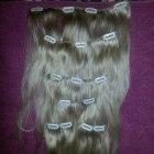 Włosy naturalne clip in bezowy blond