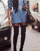 Sukienka jeansowa rozkloszowana