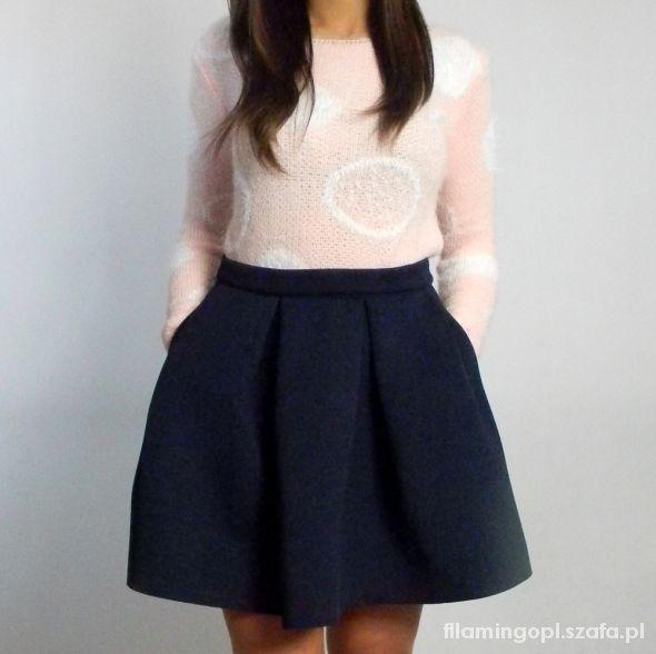 Spódnice Neoprenowa spódnica NAVY BLUE rozm L SYLWESTER