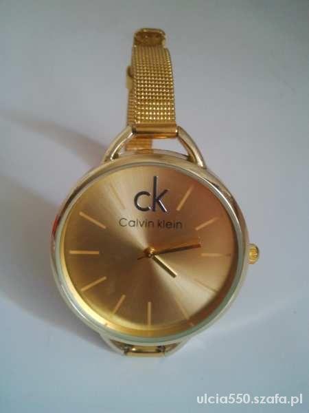 NOWY Złoty Zegarek Calvin Klein Ck