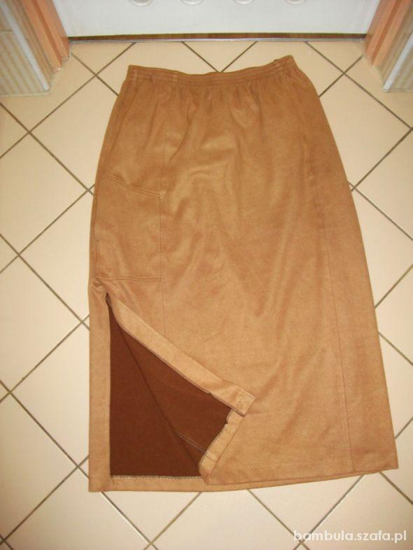 Spódnice Jak zamszowa z kieszenią48 50