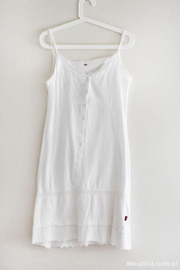 a73459e3a6 sukienka biała bawełniana na lato w Suknie i sukienki - Szafa.pl