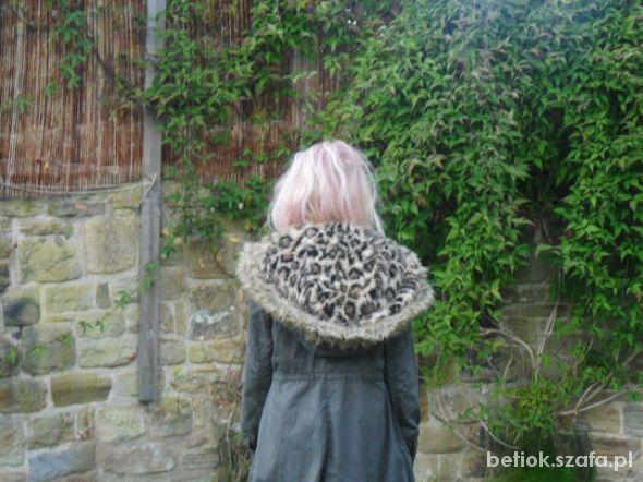 Parka miss selfridge duży kaptur leopard...