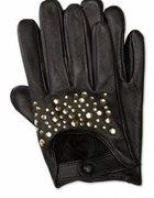Skórzane rękawiczki C&A z ćwiekami