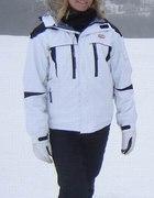 KENVELO SKI WEAR Kurtka narciarska biała z czarnym