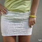 boska koronkowa spódniczka bandage white