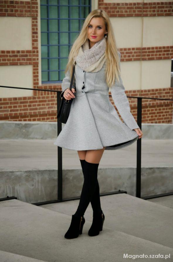 Blogerek Globed gray coat