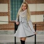 Globed gray coat