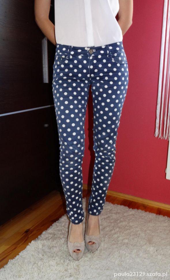 Unikalne Rurki w kropki spodnie rozmiar 36 38 w Spodnie - Szafa.pl AN83