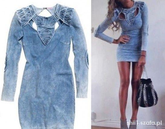 7eab42a0a3 Sukienka jeansowa HM w Ubrania - Szafa.pl